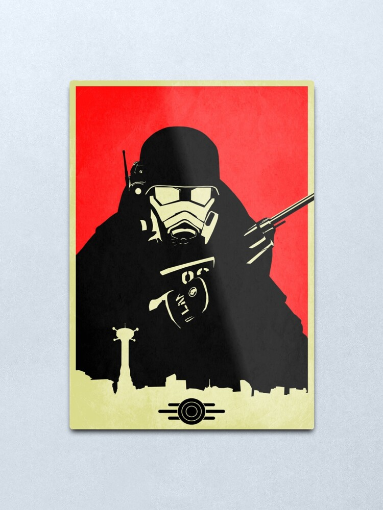 Alternate view of Fallout NCR Ranger Contrast Fan Art Poster Metal Print