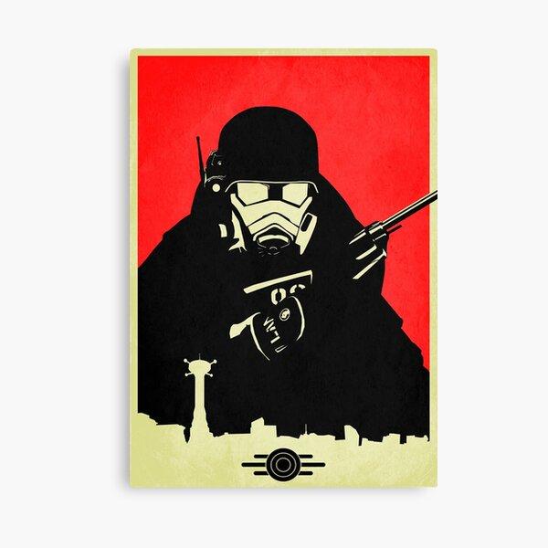 Fallout NCR Ranger Contrast Fan Art Poster Canvas Print
