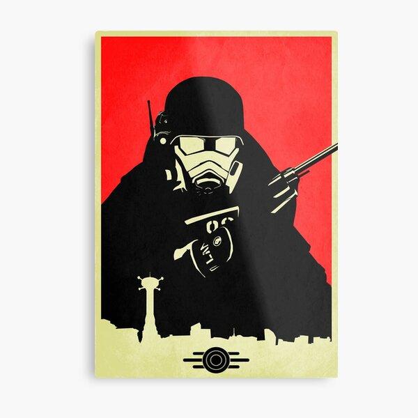 Fallout NCR Ranger Contrast Fan Art Poster Metal Print