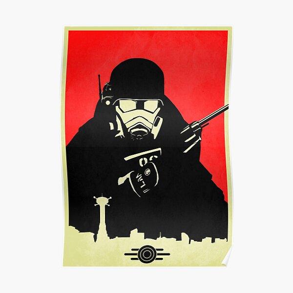 Fallout NCR Ranger Contrast Fan Art Poster Poster