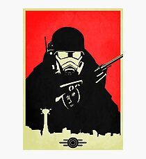 Fallout NCR Ranger Contrast Fan Art Poster Photographic Print
