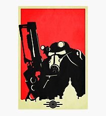 Fallout Brotherhood of Steel Contrast Fan Art Poster Photographic Print