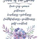 Frucht des Geistes | Bibelvers Kunstdruck / Poster | Galationen von PraiseQuotes