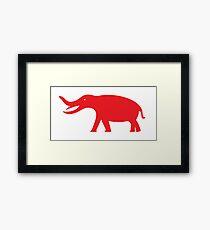Minimalistic Platybelodon Framed Print