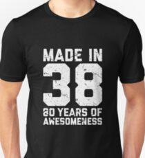 80th Birthday Gift Adult Age 80 Year Old Men Women Unisex T-Shirt