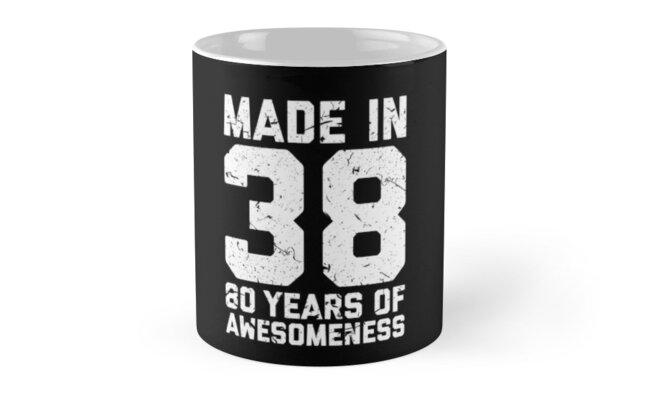 80th Birthday Gift Adult Age 80 Year Old Men Women By Matt L