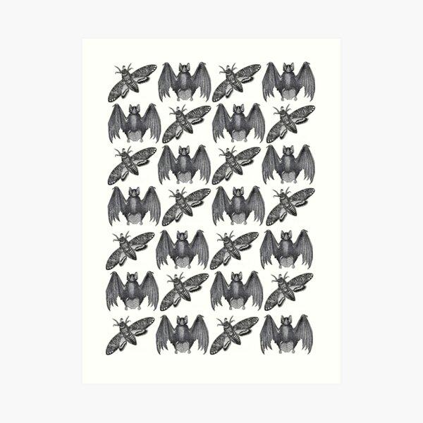Bat Moth Art Print
