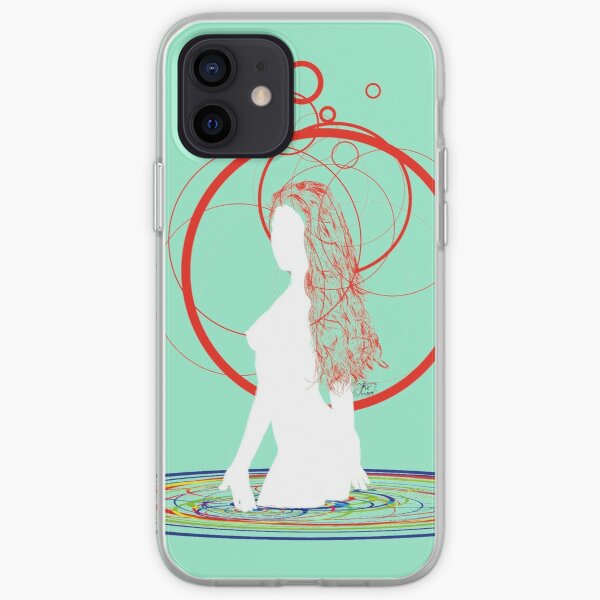 red hair in the water iPhone Soft Case