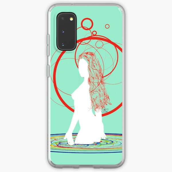 red hair in the water Samsung Galaxy Soft Case