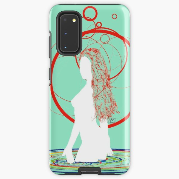 red hair in the water Samsung Galaxy Tough Case