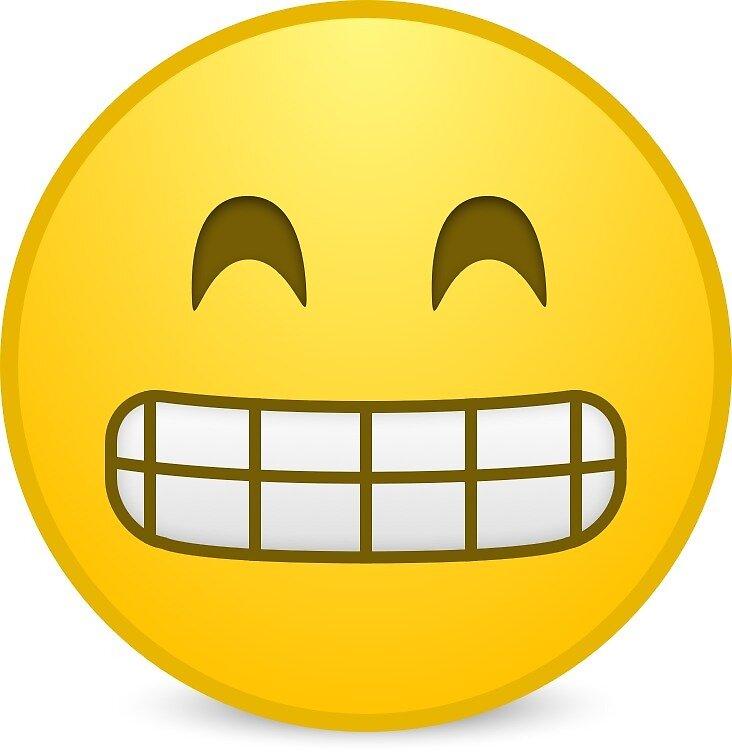Quot Grin Emoji Quot By Emojishirts Redbubble