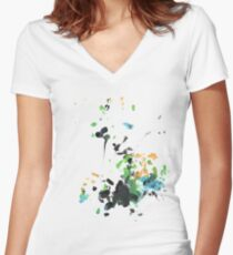 BJZ #1 Women's Fitted V-Neck T-Shirt