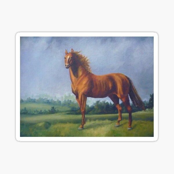 Man O'War Racehorse Sticker