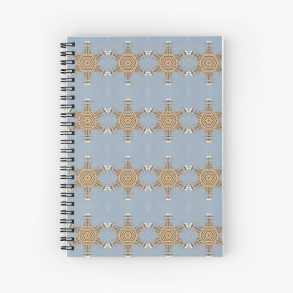 Motif, #Motif, Fractal Art, #FractalArt, #Fractal #Art, Pattern, #Pattern, design, tracery, weave, #design, #tracery, #weave Spiral Notebook