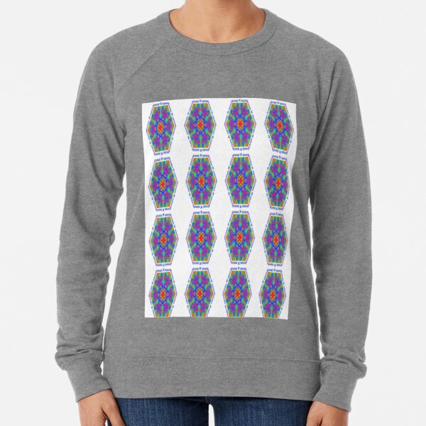 Motif, #Motif, Fractal Art, #FractalArt, #Fractal #Art, Pattern, #Pattern, design, tracery, weave, #design, #tracery, #weave Lightweight Sweatshirt