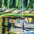 Sailboat on the Dnieper by Oleg Atbashian