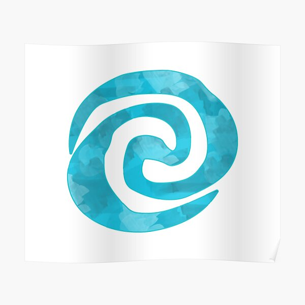 Water color Swirl Poster