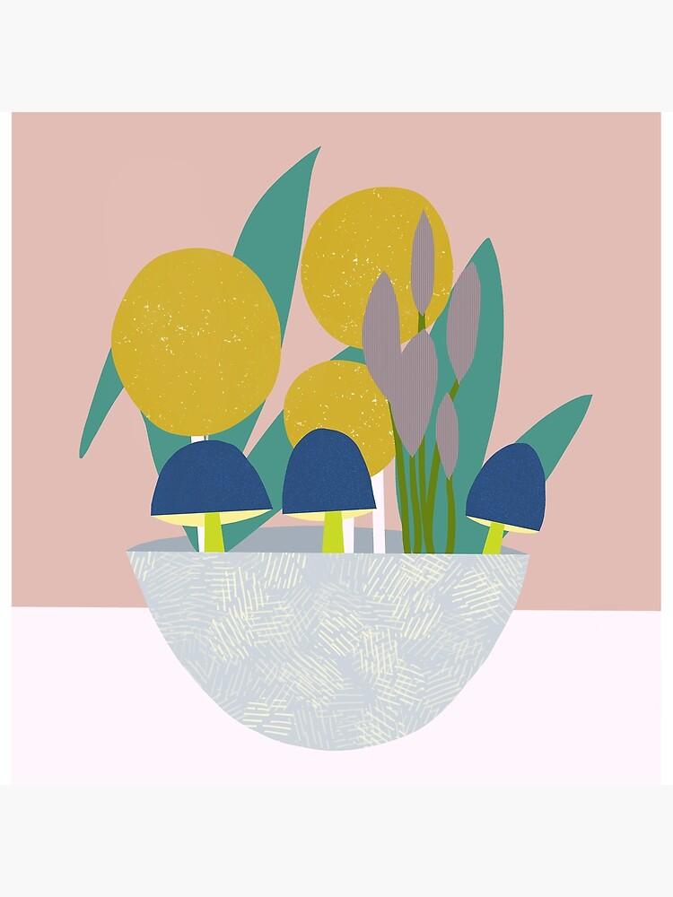 Ornamental Bowl by BirdsongPrints
