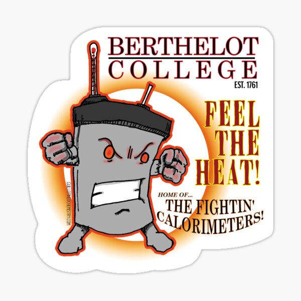 Berthelot College Fightin' Calorimeter Sticker