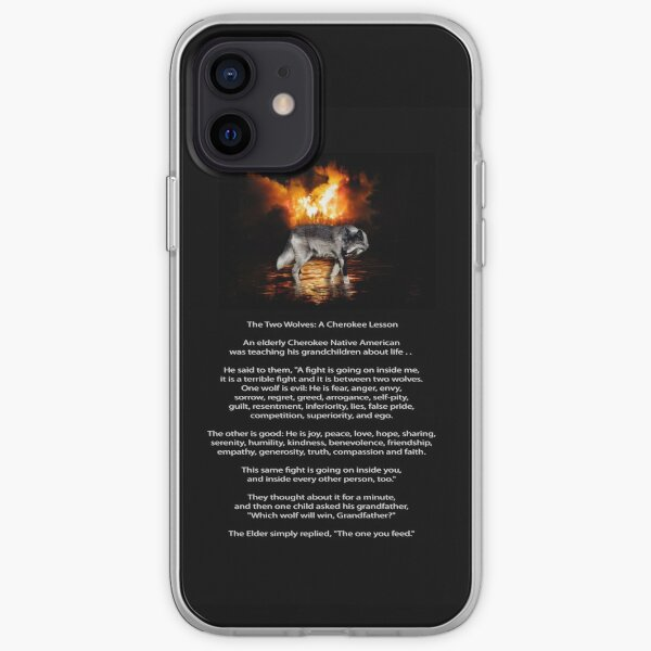 The TWO WOLVES CHEROKEE TALE  iPhone Soft Case