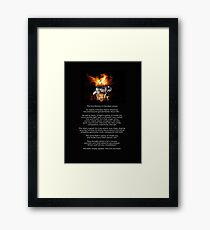 The TWO WOLVES CHEROKEE TALE  Framed Print