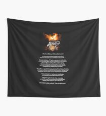 The TWO WOLVES CHEROKEE TALE  Wall Tapestry