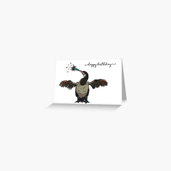 Flightless Cormorant Birthday Card Greeting Card