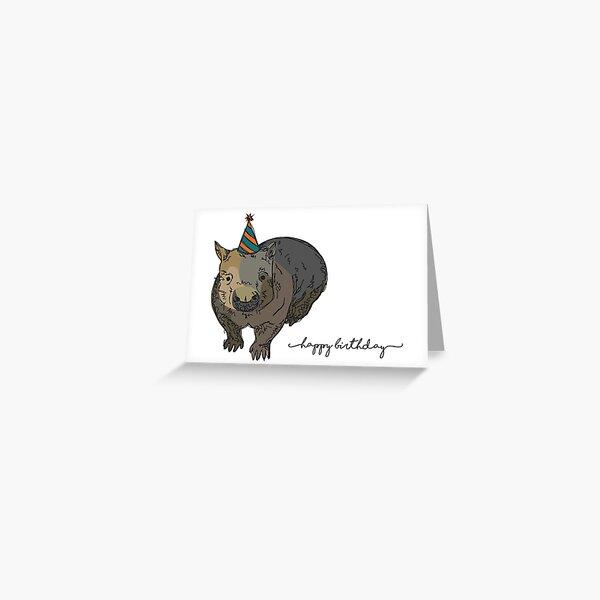 Wombat Birthday Card Greeting Card