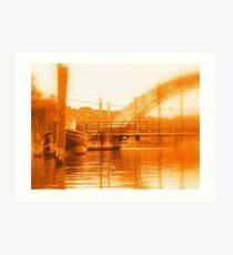 Rusty Wickford Concrete Bridge Art Print
