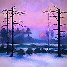 Winter Sunset in Siberia by Oleg Atbashian