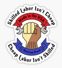 Skilled Workers Labor Union Collection Sticker