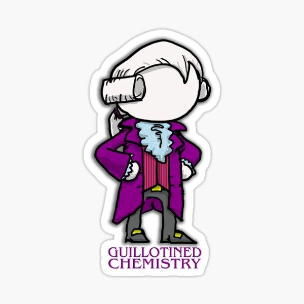Vintage Guillotined Chemist Sticker