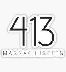 MASSACHUSETTS 413 • BLACK Sticker
