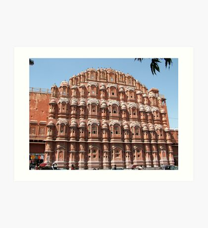 Hawa Mahal, Jaipur landmark, Rajesthan, India Art Print