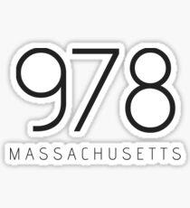 MASSACHUSETTS 978 • BLACK Sticker