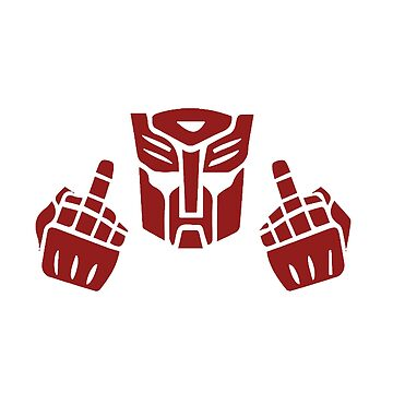 Transformers Autobot Symbol middle finger by scaabs