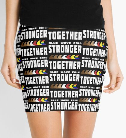 Stronger Together Blue Wave 2018 Mini Skirt