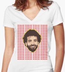 mohamed salah Women's Fitted V-Neck T-Shirt
