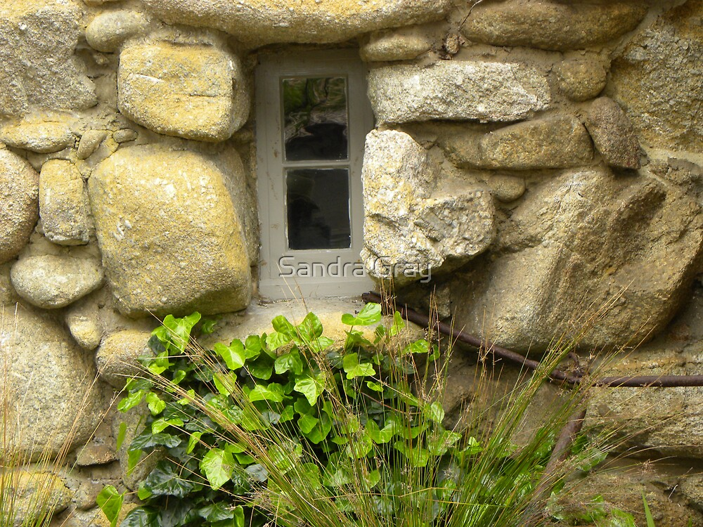 Tor House Window by Sandra Gray