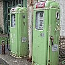 Vintage Gas Tanks by Colleen Drew