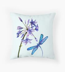 Nature's Gift's - Dragonfly and Flower Floor Pillow