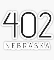 NEBRASKA 402 • SCHWARZ Sticker