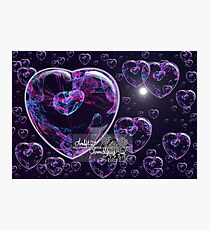 crystal heart bubbles Photographic Print