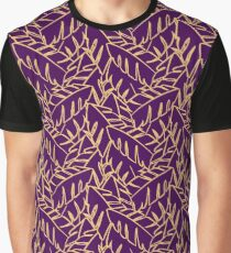Into The Palms - Purple and Mustard Graphic T-Shirt