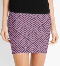 Deco Diamonds - Pink and Purple  Mini Skirt