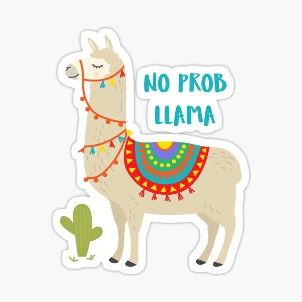 Peru No Prob Llama  Sticker