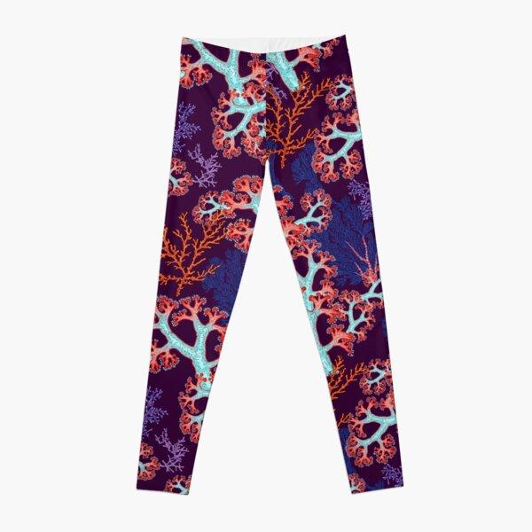 coral dream Leggings