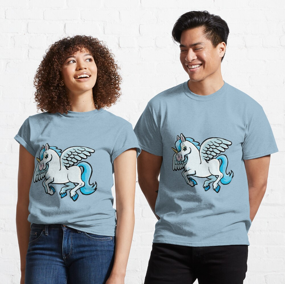 unicorn with wings Classic T-Shirt
