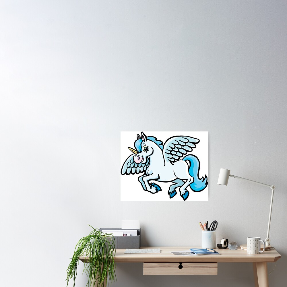 unicorn with wings Poster