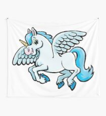 unicorn with wings Wall Tapestry
